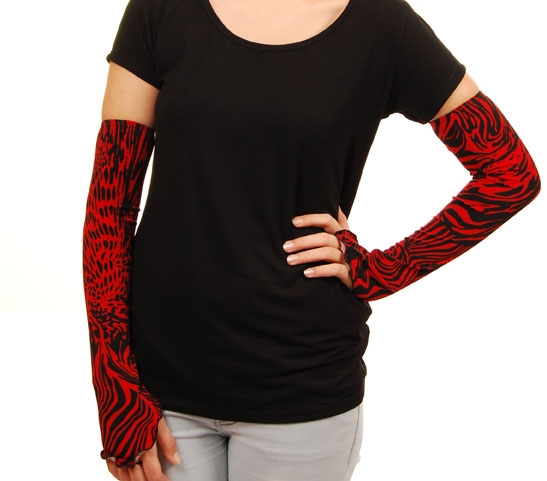 red & black jungle rayon