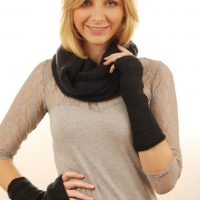 brown wool snood & demi sleeves