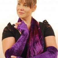 violet velvet long