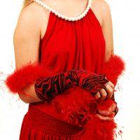 Red dress boa jungle demis