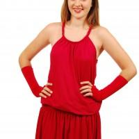 Red dress plait w demi