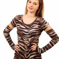 burnished tiger top sleeves