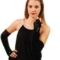 Black Dress Pearls Black Velvet Swarovski_0540