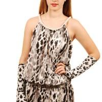 Grey Cheetah Dress Pearls Grey Leopard Elbow_0558