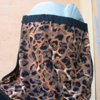 Sun Shade Nape Protector Brown Leopard